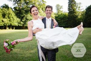 glückliches Brautpaar T & C