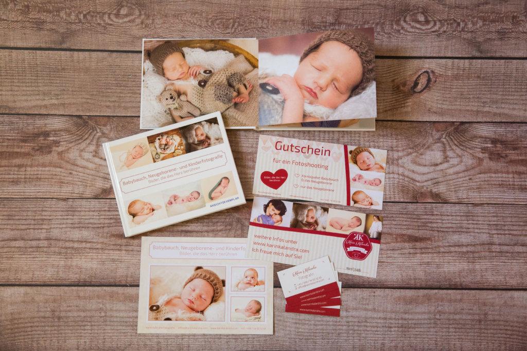 Gutschein verschenke für ein Baby-Fotoshooting