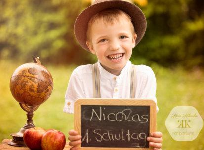 Kindergartenbilder – 1. Schultag Nicolas
