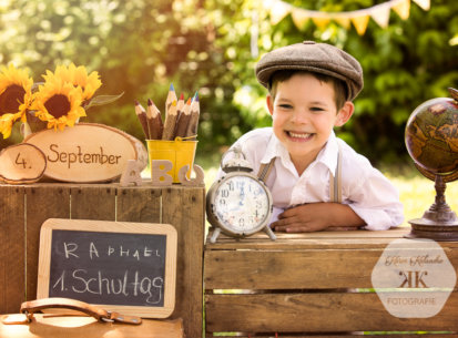 Kindergartenfotos – 1. Schultag Raphael