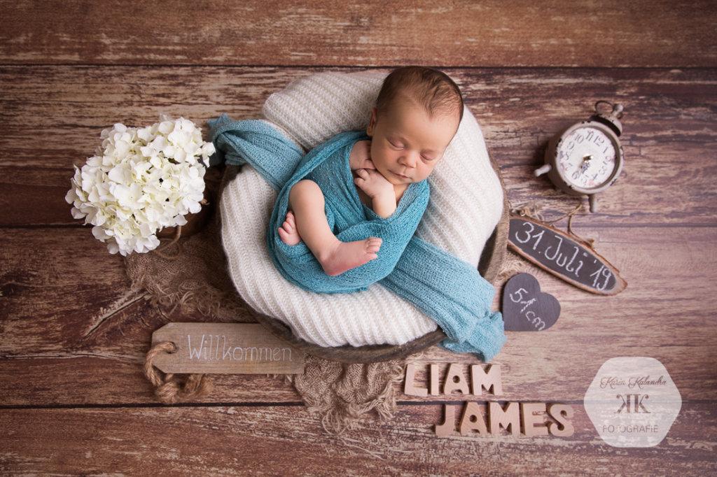 entzückendes Neugeborenenshooting #8